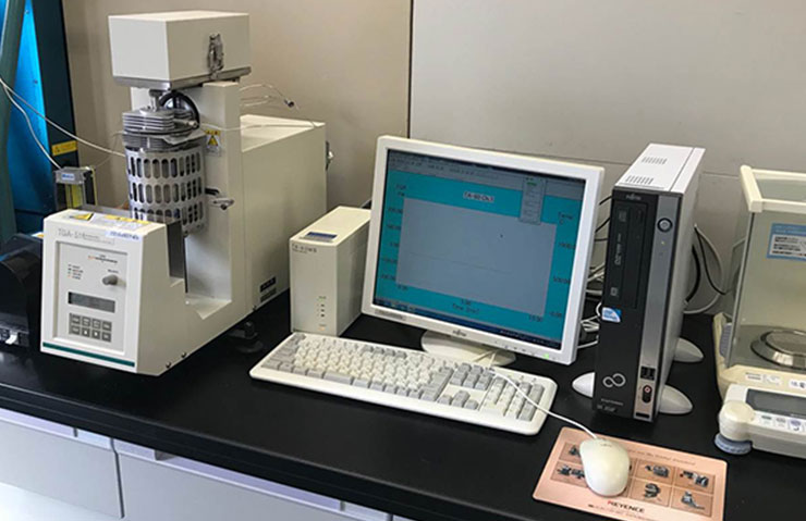 太盛工業の検査設備 熱重量測定装置