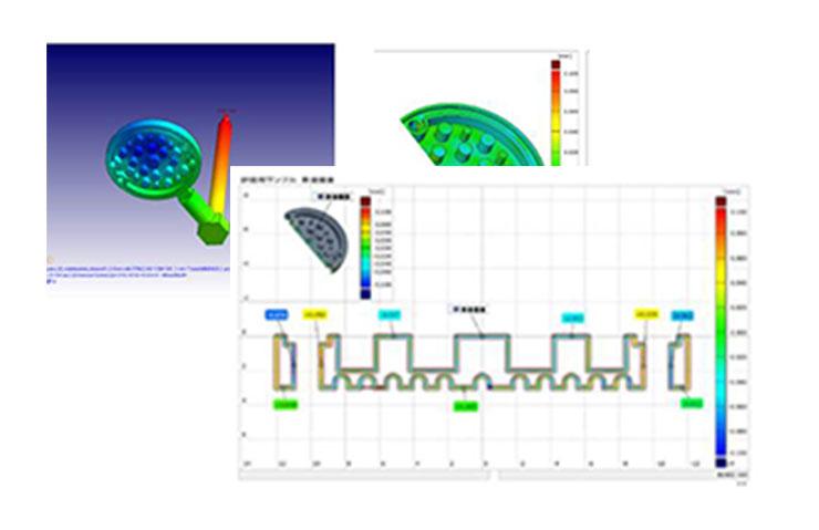 太盛工業の検査設備 流動解析シミュレーション